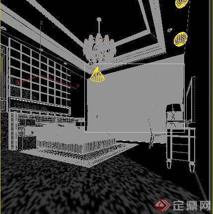 家装设计欧式卧室室内装饰3dmax模型