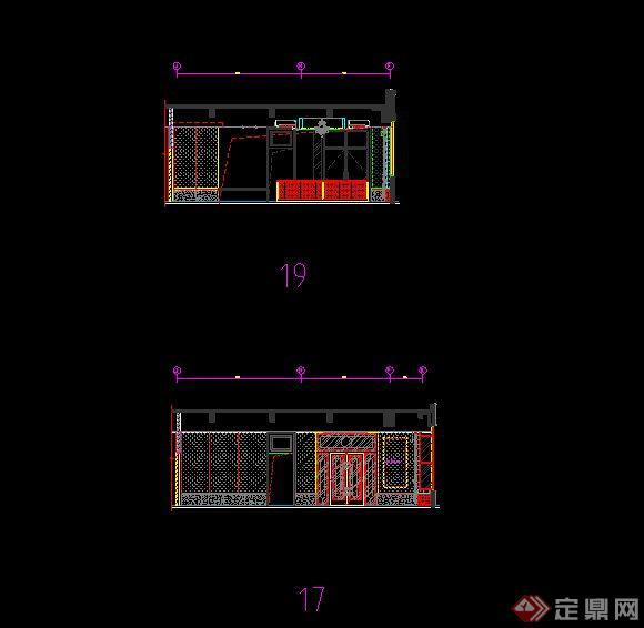 某售楼处室内布置设计cad方案图
