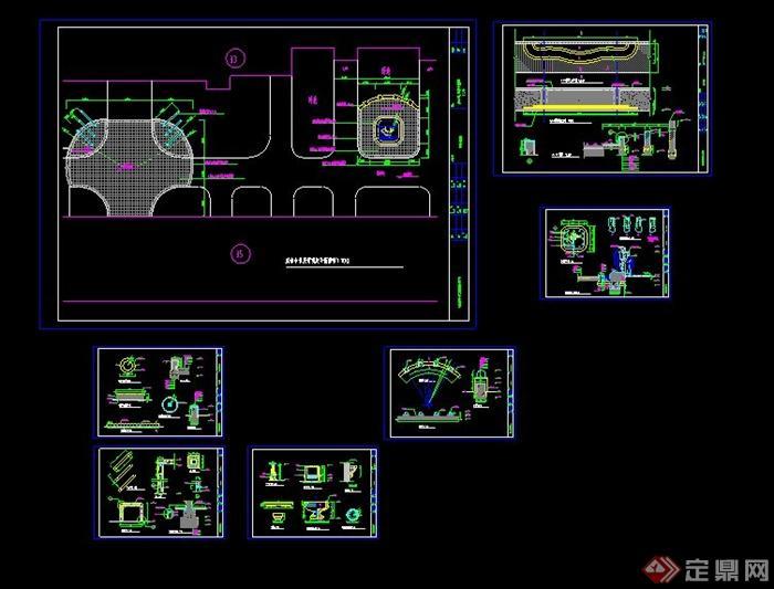 园林景观道路铺装设计CAD施工图