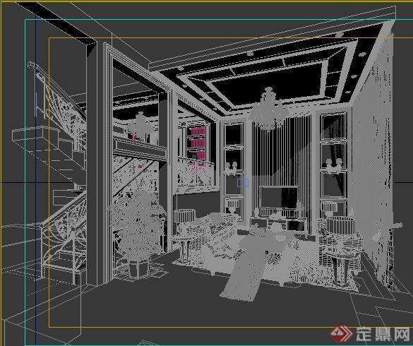 餐厅室内装修设计3dmax模型