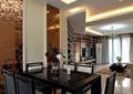 餐厅,水晶吊灯,餐桌椅,花瓶插画,水晶墙