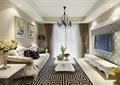 客厅,电视柜,茶几,沙发,地毯,吊灯,电视墙,插花花瓶,装饰画