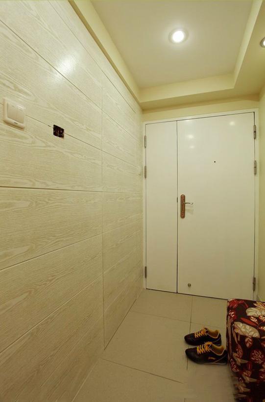 108㎡简欧3居室 隐形门 次卧强势收纳-玄关门-设计师