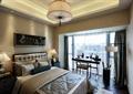 卧室,床,吊灯,落地灯,台灯,书桌椅