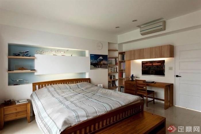 卧室,背景墙,书桌椅,床头柜