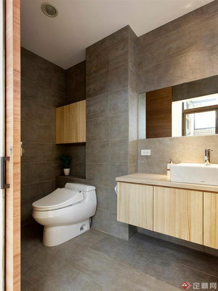 卫生间,马桶,卫浴柜,洗漱镜,台盆图片