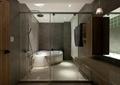 卫生间,淋浴间,浴缸,玻璃门