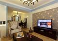 客廳,電視,電視柜,電視背景墻,沙發,茶幾,擺件