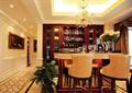 餐厅,吊灯,酒柜,吧台,椅子