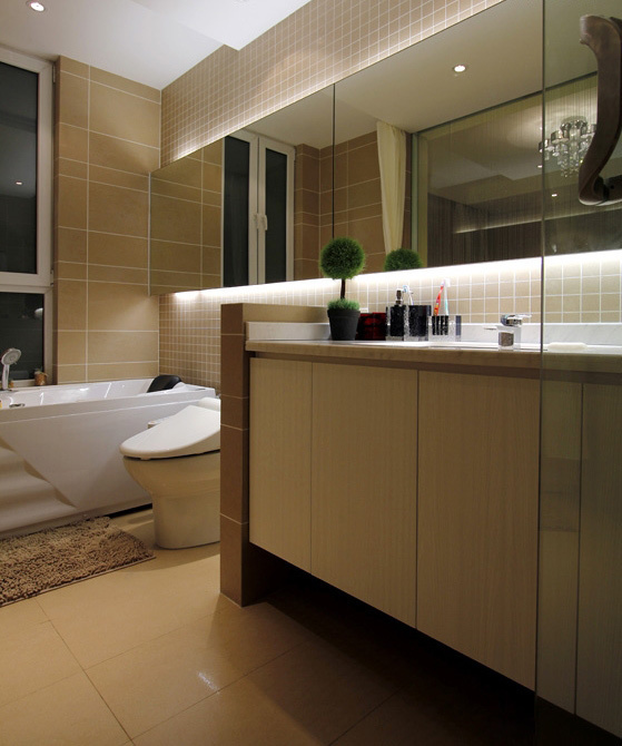 118素色a素色花园式3房2厅室内图片-卫生间滑冰场设计图图片