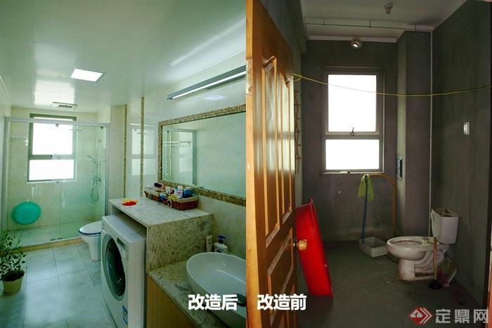 120㎡3房變5房室內圖片-衛生間浴室改造前后對比-設計
