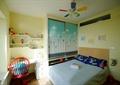 卧室,床,衣柜,电脑桌,置物架