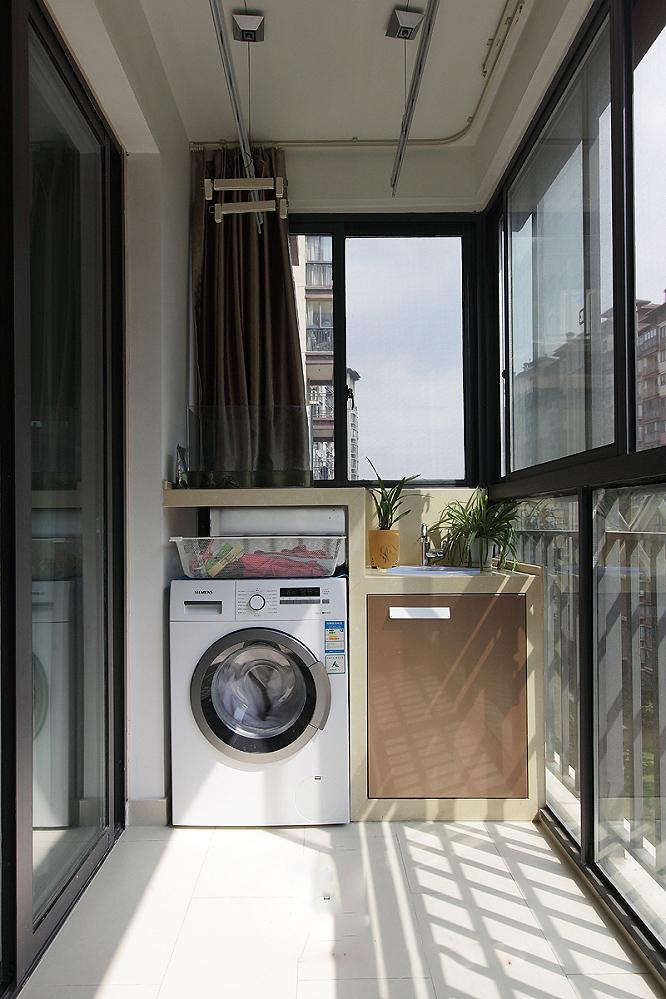 几个住宅室内图片-阳台洗衣机柜阳台柜-设计师图库