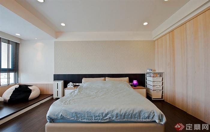 几个住宅室内图片-卧室床榻榻米床头柜-设计师图库