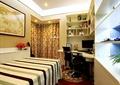 卧室,书架,电脑桌椅,窗帘,床