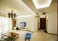 客廳,餐具,椅子,燈飾,電視柜,吊燈,窗簾