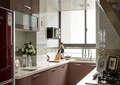 厨房,橱柜,餐具,窗子