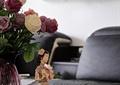 花瓶插花,人物玩偶,摆件
