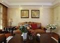 客厅,花瓶插花,壁画,桌子,台灯