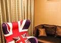 客厅,椅子,沙发,窗帘,背景墙,壁画
