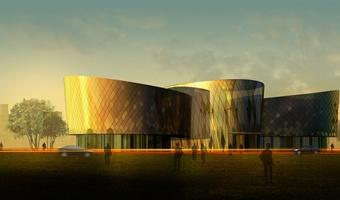 某培训中心文体中心建筑设计效果图