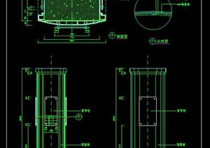 13根现代式柱设计CAD详图
