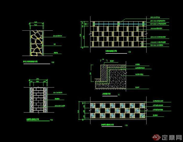 园林道路铺装设计CAD施工图