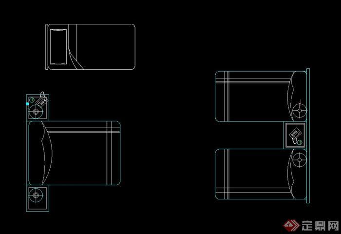 沙发、床、椅子等室内设计CAD图块[Sofa,becad阀门图块下载图片