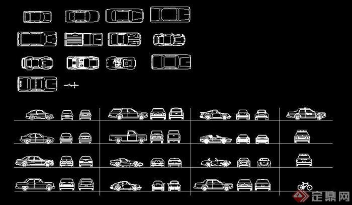 常用交通工具CAD图块(1)