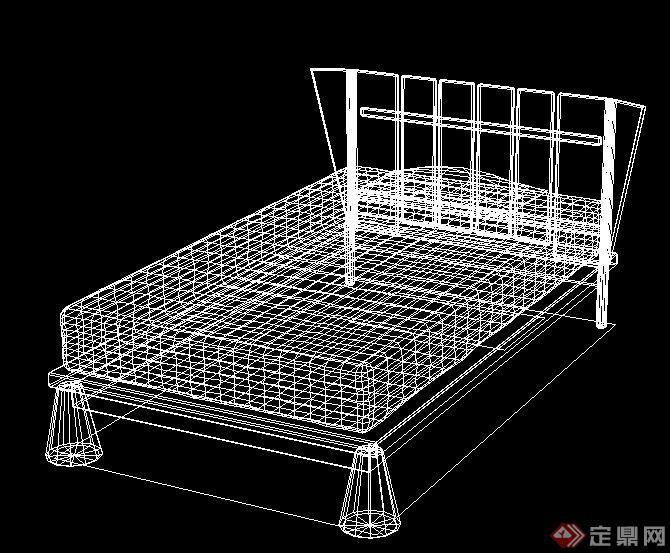 室内装饰家具床cad模型