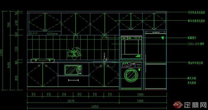 室内设计厨房常用cad图块