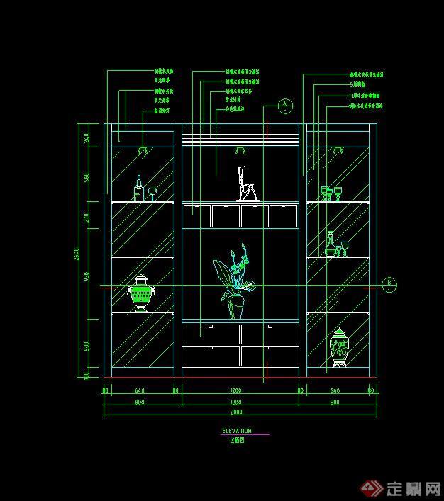 多款住宅空间室内家装立面设计cad图