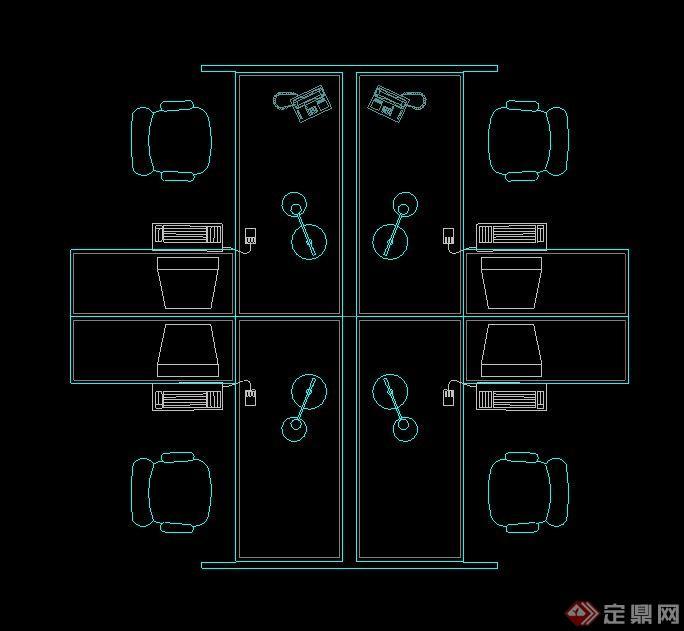 会议桌设计cad平面图