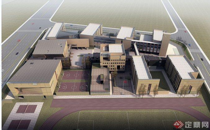 多所学校建筑设计效果图及实景图