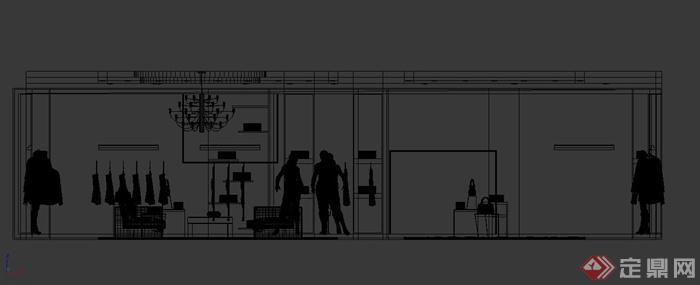 现代某女装服装店装修设计3dmax模型