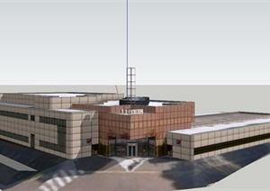 某广播中心建筑设计SU(草图大师)模型