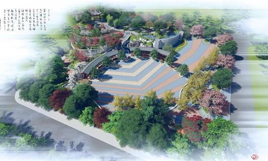 竹基镇文化娱乐活动广场景观设计方案