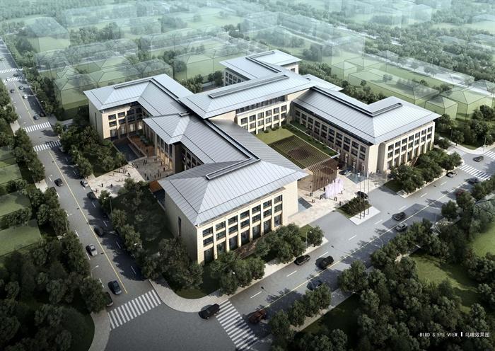 新中式风格五星级酒店建筑设计方案文本