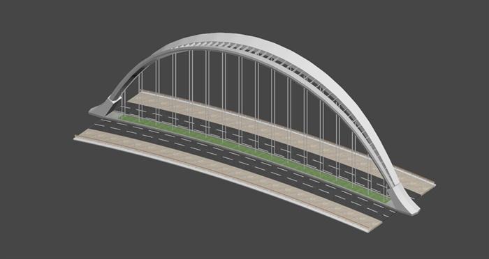 现代交通桥设计3dmax模型