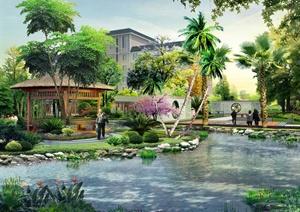 某地区敬老院景观设计psd效果图