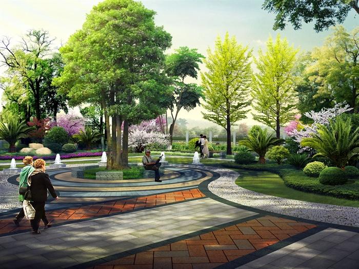 某地敬老院景观设计PSD效果图