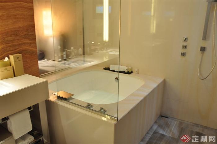 澳门皇冠假日酒店室内设计图片-浴室浴缸-设计师图