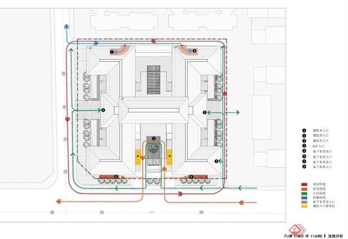 新中式风格五星级酒店建筑设计方案文本(4)