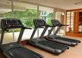 酒店,健身房,跑步机,健身器材,落地窗
