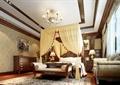 卧室,床,床头柜,沙发,蚊帐,吊灯,柜子