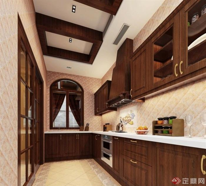 芜湖碧桂圆别墅家装-厨房橱柜窗子-设计师图库
