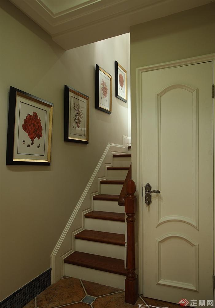 楼梯,装饰画,门