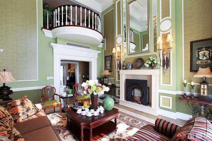 重庆保利江上明珠别墅室内装饰图片-客厅沙发茶几