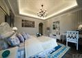 卧室,床,柜子,椅子,地毯,吊灯,天花吊顶