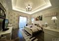 卧室,窗子,床,柜子,灯饰,电视柜,背景墙